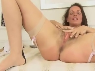 Sexy and horny cougar marlyn in stockings by dracarys69