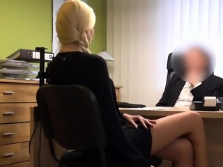 VIP4K. Blonde hottie with pigtail is owned by loan manager