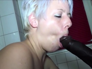 BBC Caught Fuck German Mother of Best Friend Fuck Bathroom
