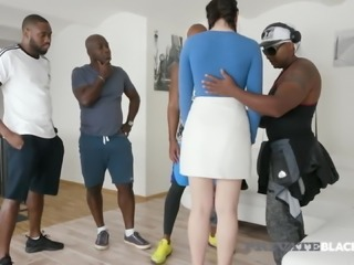 PrivateBlack - Horny Hannah Vivienne Fucks 4 Big Black Cocks