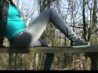 Amatuer Sexy European Blonde Sux and Fux BFs Big Cock Outdoo