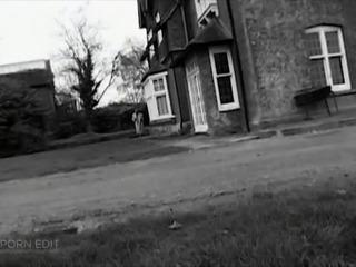 British posh totty pisses outdoors