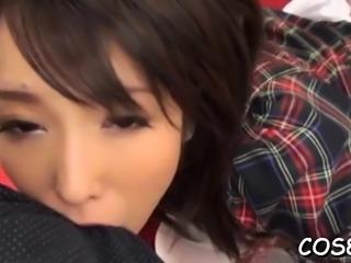 Astounding nipponese cutie Chika Arimura banged by guy