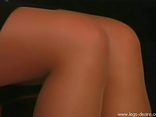 Masturbation in pantyhose shorts over stockings