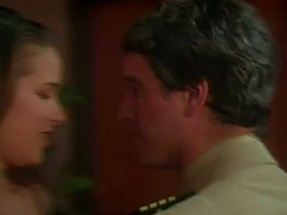 Army officer seduced by brunette