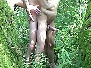 Gay 2 Men Outdoor naked Sex Bareback 2009