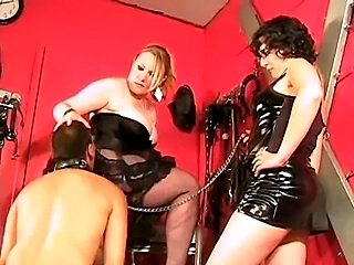 Slaves adore mistresses asses