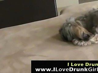 Drunk girl brutally fucked