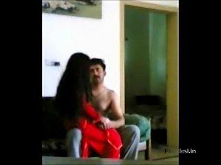 Indian Punjabi police man enjoying with his wife