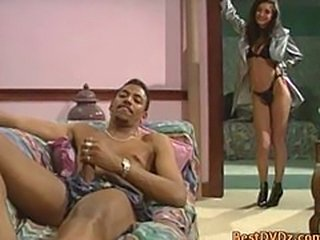 Gorgeous girl gets fucked by black cock