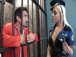 Busty blonde beauty banged in prison